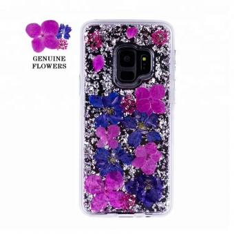 Samsung Galaxy S9 plus geperst bloem mobiele telefoon covers