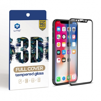 Iphone x 3d gebogen gehard glas screen protector