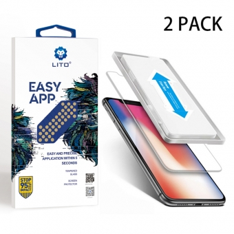 Iphone x flexibel gehard glas screen protector met applicator