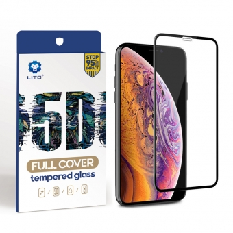 Iphone xs 5d gebogen full cover gehard glas screen protector film