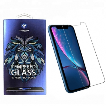 Iphone xr 9h 0,33 mm 2,5d hoge heldere gehard glas screen protectors