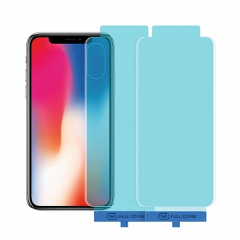 iPhone x / xs front- en achterkant gehard glas screen protector met applicator tool